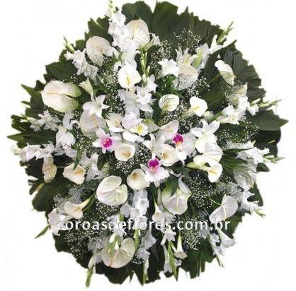 Coroa de Flores 16 ( Orquideas )