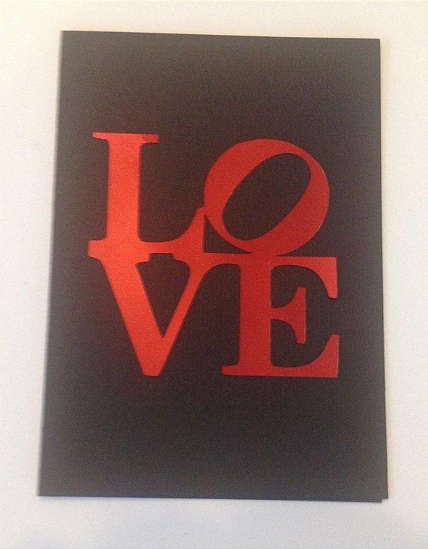 Cartão Love  (Preto)