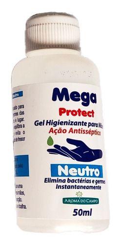 MEGA PROTECT - GEL COM AÇÂO BACTERICIDA 50 ML -  KIT C/ 4 Unidades