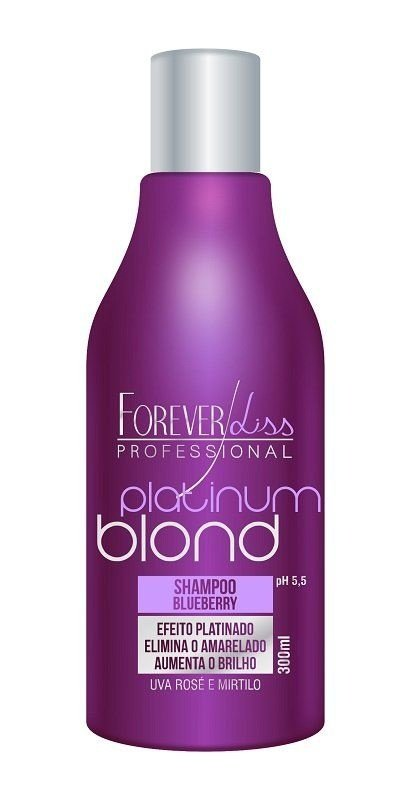Shampoo Platinum Blond Blueberry Matizador 300ml Forever Liss