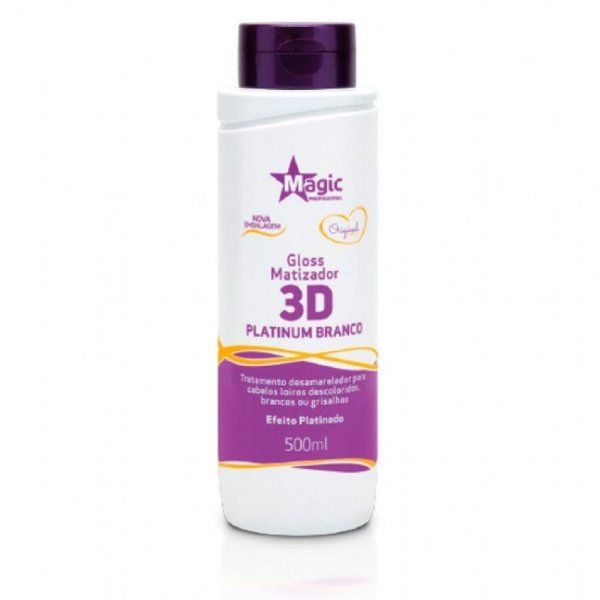 Magic Color Gloss Matizador 3D Ice Platinum Branco Efeito Platinado 500ml