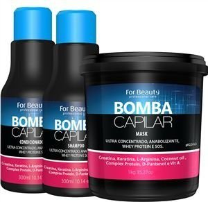 Kit Bomba Capilar Com Máscara De 1kg For Beauty
