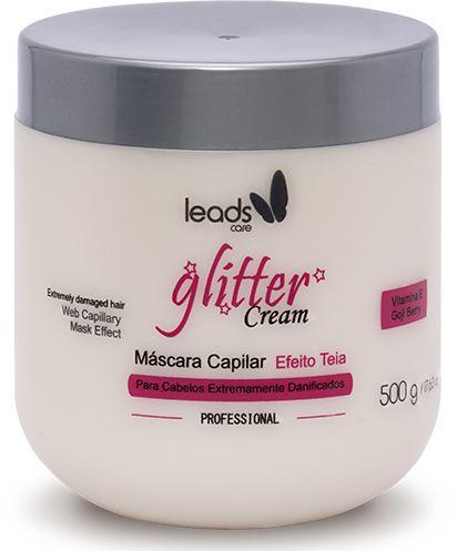 Máscara Capilar Glitter Cream Efeito Teia Leads Care 500g