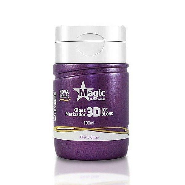 Mini Matizador Magic Color 3D Ice Blond Efeito Cinza 100ml