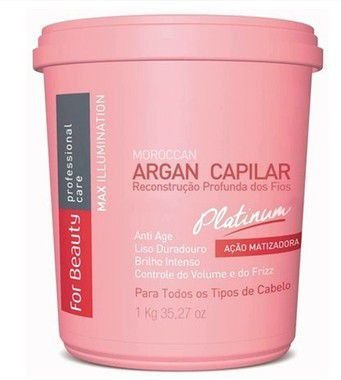 Btox Capilar Max Ilumination Argan Oil Platinum For Beauty 1kg