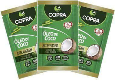 Óleo De Coco Extravirgem Copra Kit 3 Sachês 15ml