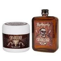 Kit Cavalera Creme De Barbear + Loção Pós Barba Bay Rum