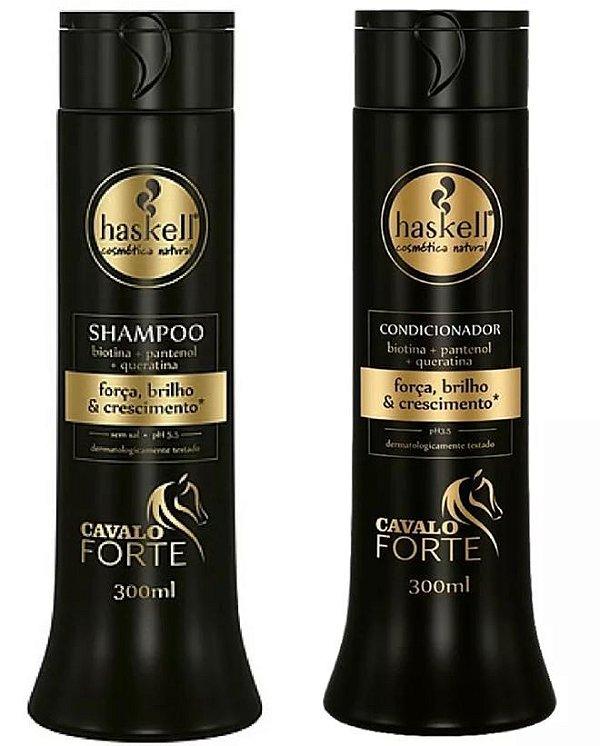 kit Shampoo e Condicionador Cavalo Forte Haskell 300ml