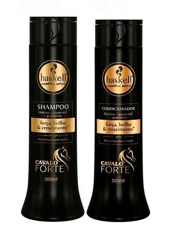 kit Shampoo e Condicionador Cavalo Forte Haskell 500ml