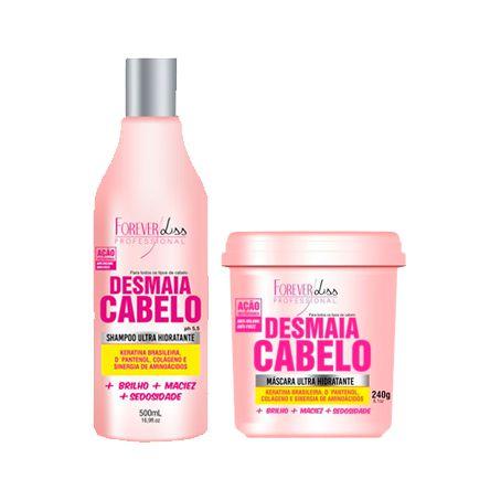 Kit Shampoo e Máscara Desmaia Cabelo Forever Liss