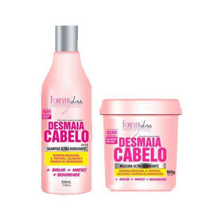 Kit Shampoo e Máscara Desmaia Cabelo Forever Liss Profissional