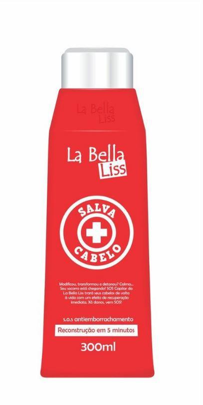 Salva Cabelo SOS Máscara De Reconstrução Antiemborrachamento La Bella Liss 300ML
