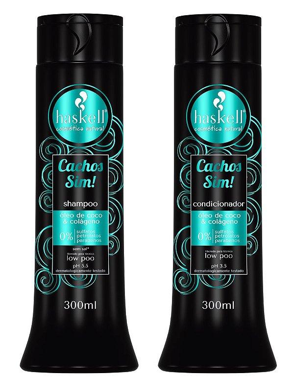 Kit Shampoo e Condicionador Cachos Sim! Haskell 300ml
