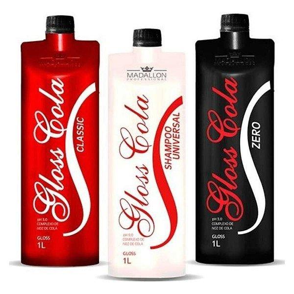 Kit Escova Progressiva Madallon Gloss Cola