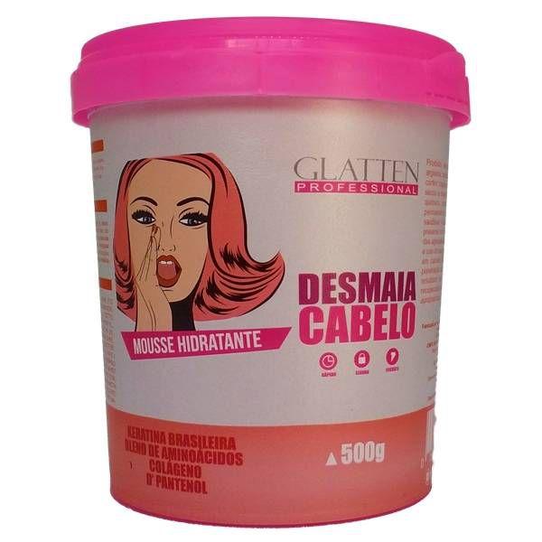 Máscara Mousse Hidratante Desmaia Cabelo Glatten 500g
