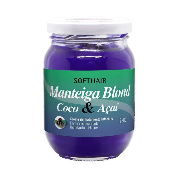Manteiga Soft Hair Blond Coco E Açaí 220g