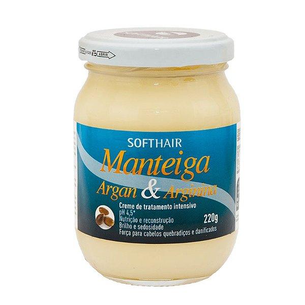 Manteiga Soft Hair Argan e Arginina 220g