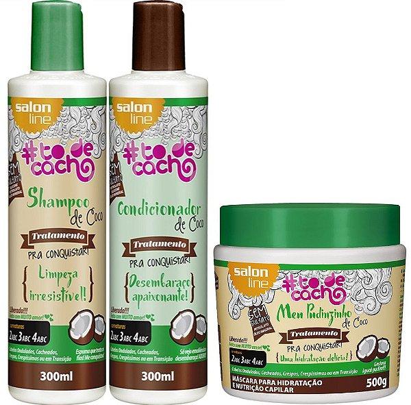 Kit de Coco #todecacho Salon Line com Máscara Meu Pudinzinho de Coco