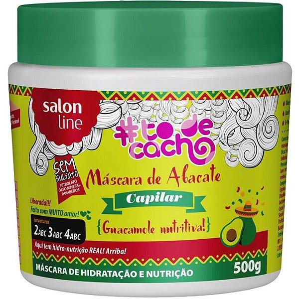 Máscara de Abacate Capilar Guacamole #todecacho Salon Line 500g