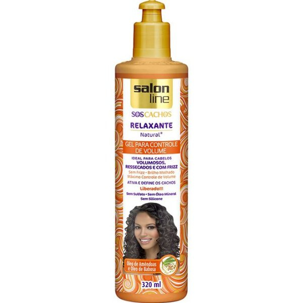 Gel Relaxante Natural S.O.S Cachos Salon Line 320ml