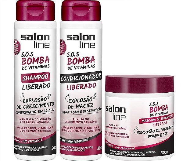 Kit SOS Bomba de Vitamina Liberado Salon Line Completo