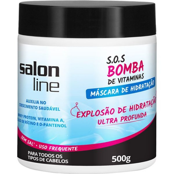 Máscara SOS Bomba de Vitamina Salon Line 500g