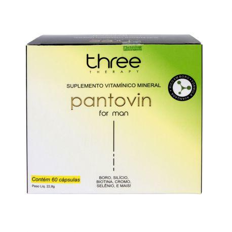 Pantovin for Man Suplemento 60 Cápsulas Three Therapy