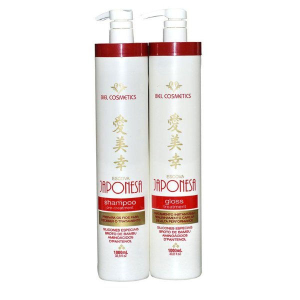 Escova Progressiva Japonesa Biel Cosmetics 2x1 Litro
