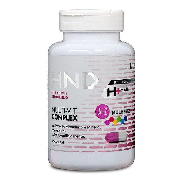 HND Multi-Vit Complex [A-Z] Mulheres Polivitaminico Hinode 60 cápsulas