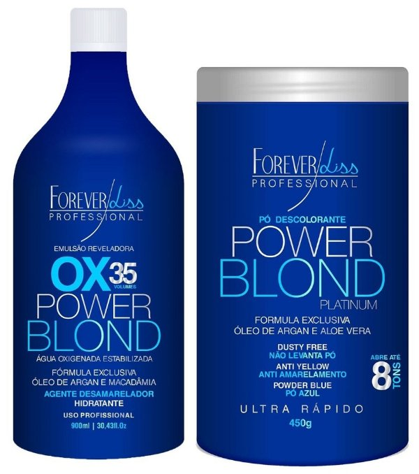 Oxigenada OX 35 + Pó Descolorante Power Blond Forever Liss