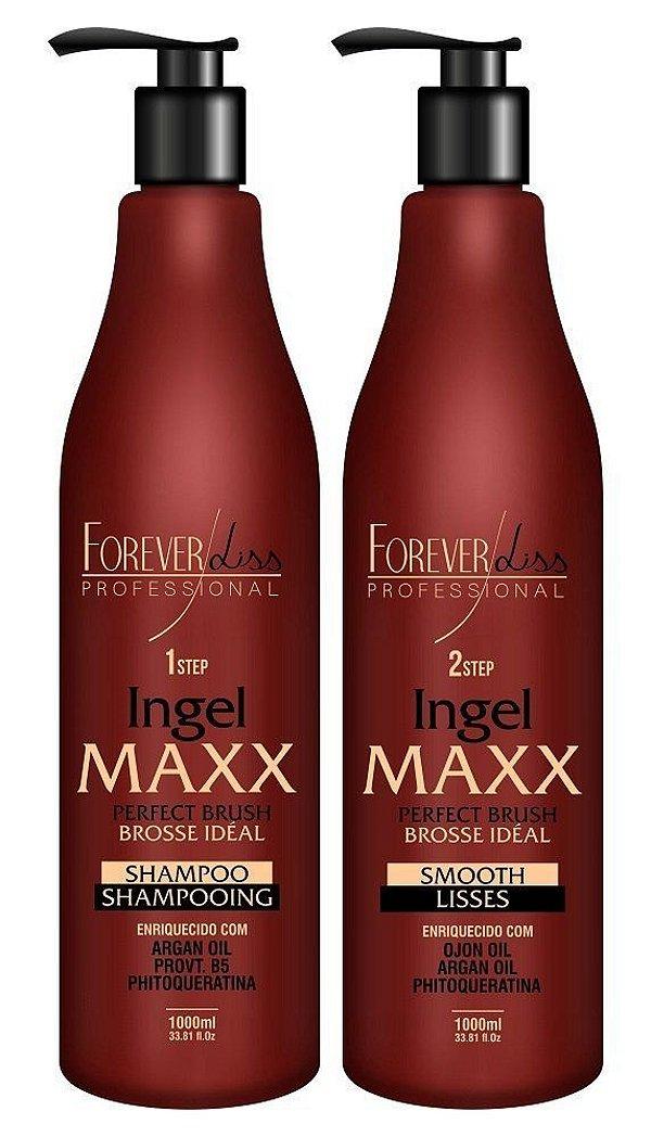 Kit Escova Progressiva Ingel Maxx Forever Liss