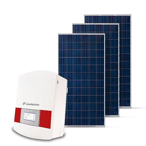 KIT GERADOR FOTOVOLTAICO CANADIAN SPIN SOLAR 16,50 KWP TRI 220V (15K/330W)
