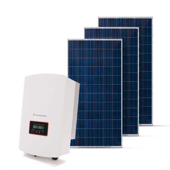 KIT GERADOR FOTOVOLTAICO CANADIAN SPIN SOLAR 3,30 KWP MON. 220V (3K/330W)