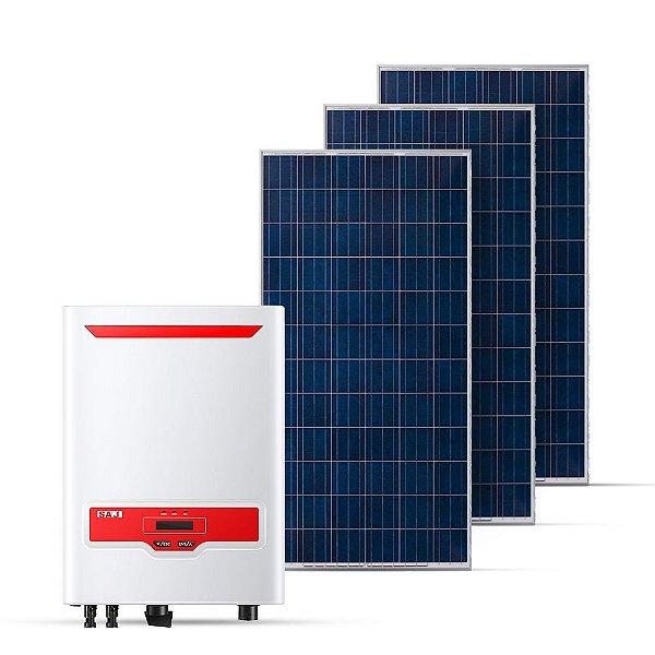 KIT GERADOR FOTOVOLTAICO SAJ SPIN SOLAR 7,26 KWP MON 220V (6K/330W)