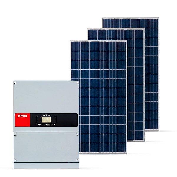 KIT GERADOR FOTOVOLTAICO SAJ SPIN SOLAR 54,45 KWP TRI 380V (50K/330W)