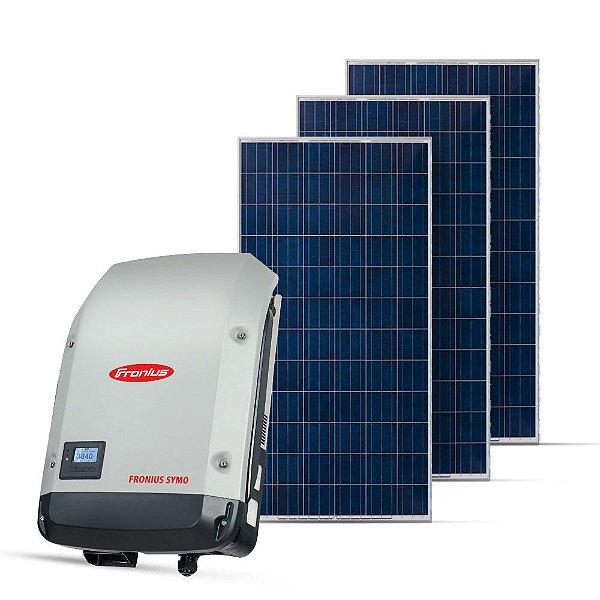 KIT GERADOR FOTOVOLTAICO FRONIUS SPIN SOLAR 8,25 KWP MON. 220V (8K/330W)