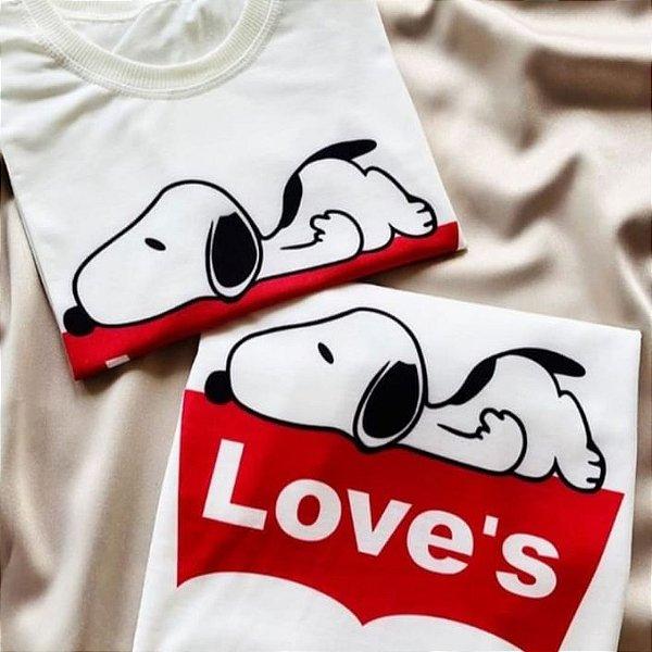 T-shirt Top Snoop Loves Branca