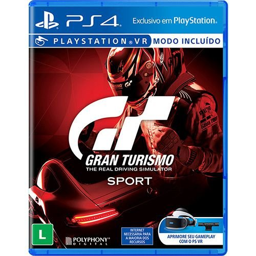 Jogo Game Gran Turismo Sport - PS4