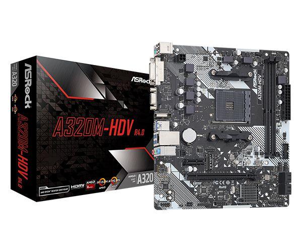 Placa-Mãe ASRock A320M-HDV R4.0 AMD AM4 mATX DDR4