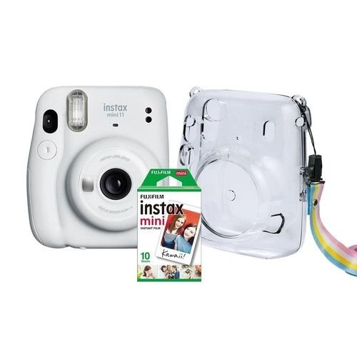 Kit Câmera Instax Mini 11 + Bolsa + 10 Filmes Fujifilm Branca