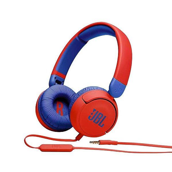 JBL Jr310 Fone de Ouvido Infantil On-Ear Microfone Integrado Vermelho