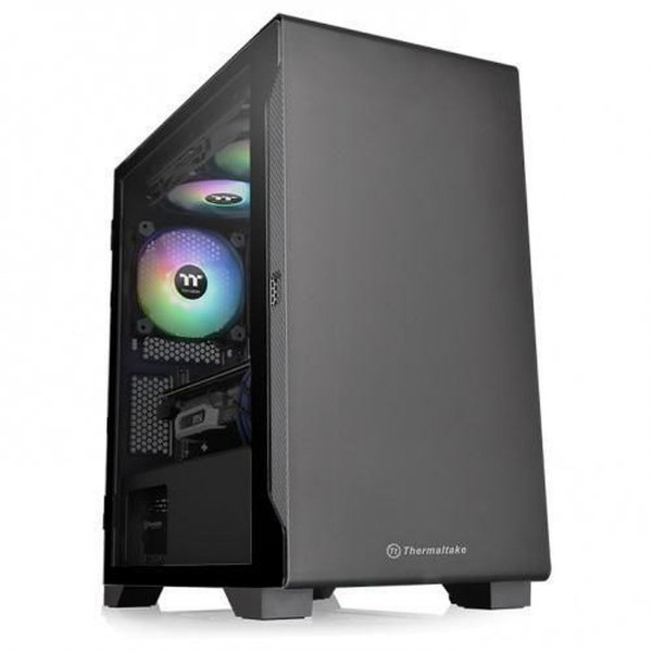 Gabinete Thermaltake Versa S100 Tg Black Minitower Atx