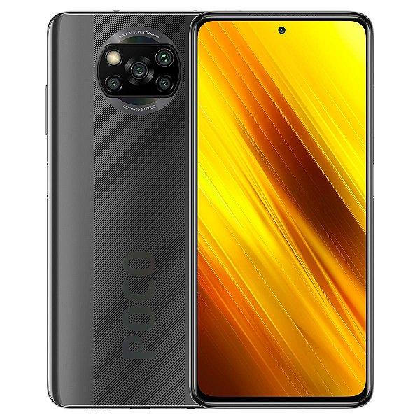 Smartphone Xiaomi Poco X3 64GB 6GB RAM Câmera 64Mpx Gray Cinza