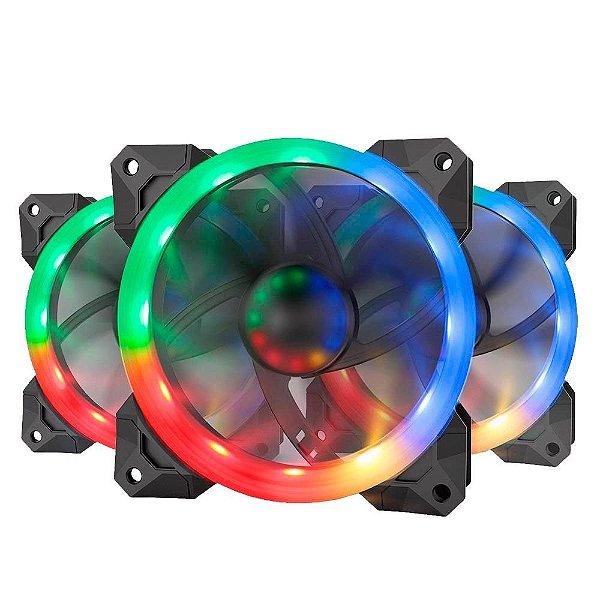 Kit  Cooler Fan RGB Redragon  Controle Remoto  GC-F008