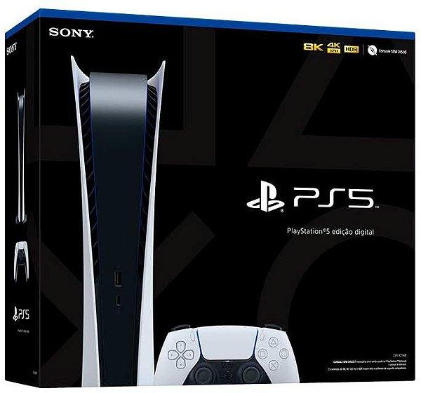 Console Playstation 5 Midia Digital Branco PS5