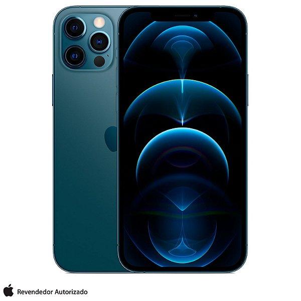 """iPhone 12 Pro Max 128GB Azul Pacífico, com Tela de 6,7"""", 5G e Câmera Tripla de 12MP - MG913LL/A"""