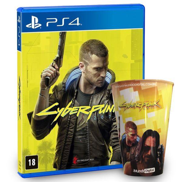 Cyberpunk 2077 - Playstation 4 + Copo Personalizado