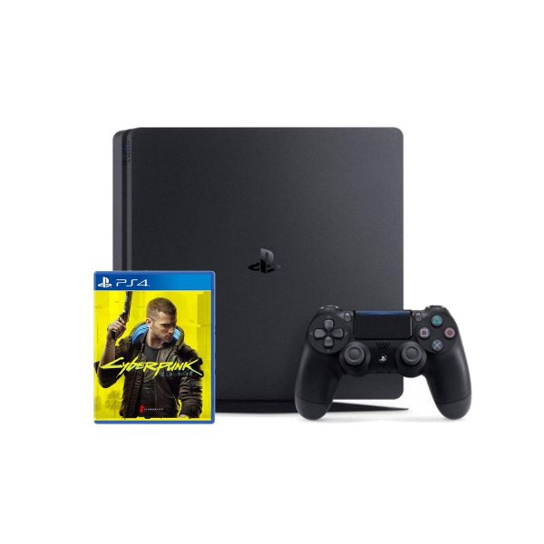 Console Playstation 4 + Cyberpunk 2077 - PS4
