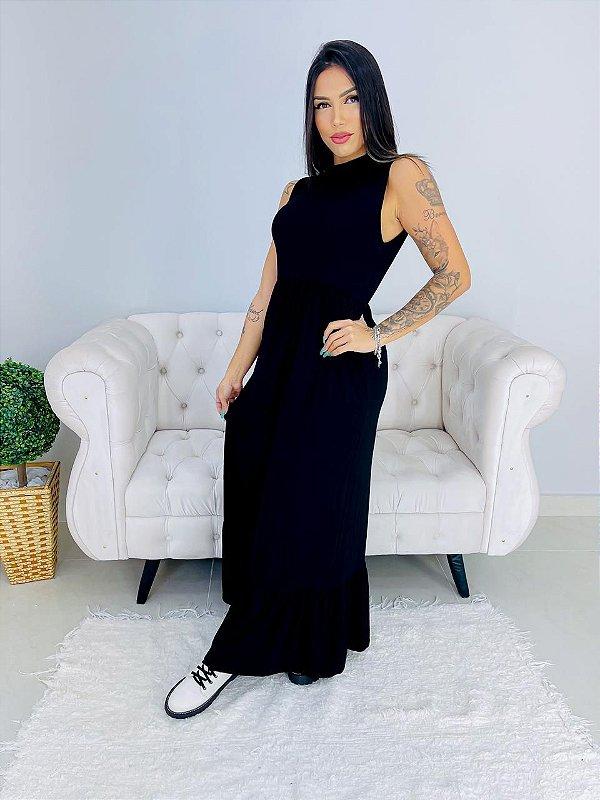 Vestido Golinha Longo