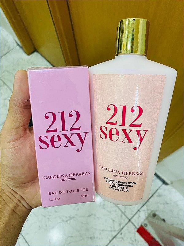 Kit Perfume e Hidratante 212 Sexy